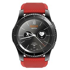 Kivors Smart Watch,NO.1 G8 Bluetooth Smartwatch Fitness Tracker with Touch Screen Pedometer for Android &IOS Smart Phone (Red)
