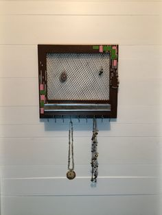 Jewelry Holder, My Etsy Shop, Brown, Unique Jewelry, Frame, Handmade Gifts, Vintage, Picture Frame, Kid Craft Gifts