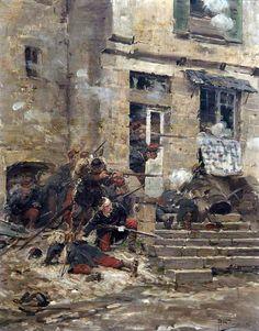 The ambush von Paul (Louis Narcisse) Grolleron Military Diorama, Military Art, Military History, European History, Art History, Edouard Detaille, Soldier Drawing, Crimean War, War Comics