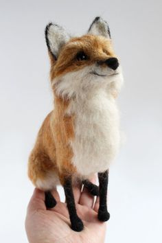 Needle felted Fox Sculpture For Annette Final by YvonnesWorkshop