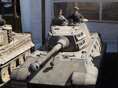 A giant RC WW2 German Tiger II or King Tiger tank during Military Odyssey