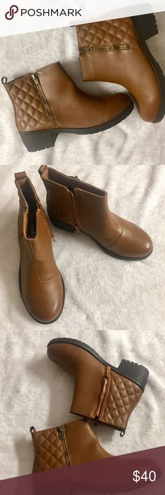 """Quilted ankle booties Side zipper booties for that comfortable fit with 2"""" height . Very comfortable and stylish . Zipper on both sides but only one is functional . I own a pair as well and got compliments each time I wore them . Shoes Ankle Boots & Booties"""