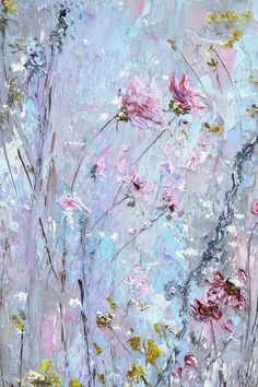 Oil Painting on Canvas by Palette Knife. Textured Embossed Blue Painting of Pink Flowers after wind By Matkina Marina VAT included (where applicable), plus shipping Add to cart Request a custom order Oil Painting Flowers, Blue Painting, Abstract Flowers, Oil Painting On Canvas, Painting & Drawing, Canvas Art, Knife Painting, Blue Canvas, Painting Abstract