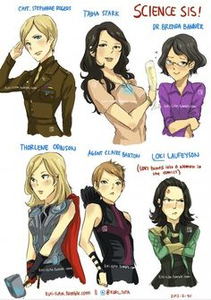 gender bender avengers | Found another gender-bender with the Avengers ^_^ | shinyanimeprincess