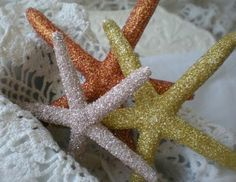 More glittered starfish decorations