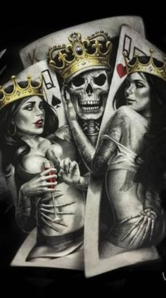 Search free king Ringtones and Wallpapers on Zedge and personalize your phone to suit you. Amor Tattoo, Card Tattoo, Black And Grey Rose Tattoo, Ariel Coloring Pages, Pin Up Girl Tattoo, Gangsta Tattoos, Full Tattoo, Prison Art, Dark Souls Art