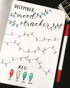 My december bullet journal mood tracker #bulletjournal #bujo #moodtracker #december #christmas