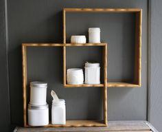 Vintage wooden shelves