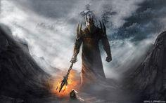 dark lord morgoth vs fingolfin Wallpaper
