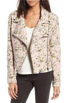 Floral jacquard moto jacket.... need we say more? Hello new must-have!