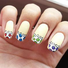 nailartistrylove yoshi egg #nail #nails #nailart