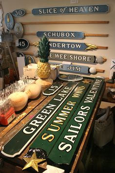 Step into a traditional woodworker's shop and find your perfect Nantucket Quarterboard.