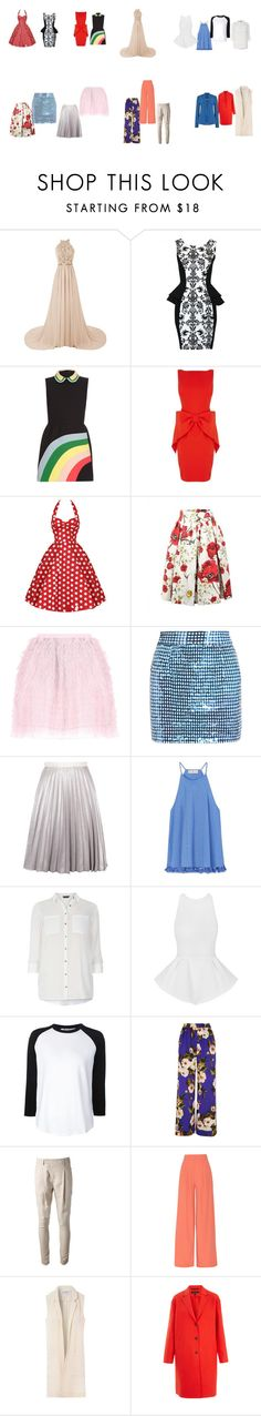 """фасоны для ""перевернутого треугольника"""" by knv9077 on Polyvore featuring мода, RED Valentino, Coast, Dolce&Gabbana, Ashish, Antipodium, Tory Burch, Dorothy Perkins, T By Alexander Wang и WithChic"