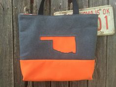 Wool Felt State Inlay Tote Bags - Copper Sky Ranch, LLC