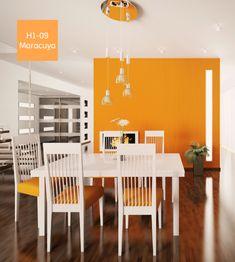 Puedes combinar los colores naranja con elementos de color blanco o de madera para lograr darle un toque único a tu cocina.  #ComexTips #Home #Deco #Comex #Naranja