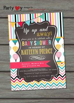 Hot Air Balloon Baby Shower Invitation by PartyInvitesAndMore, $10.00