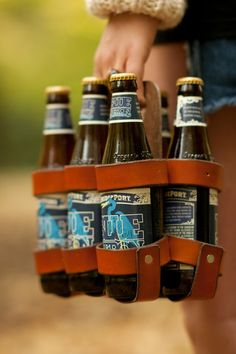 Leather carrier #6pack