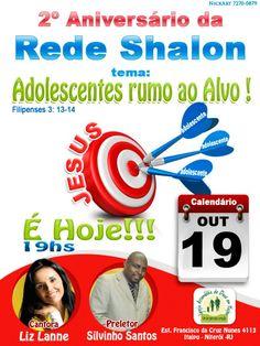Banner Web para a divulgação da Festividade da Rede Shalon