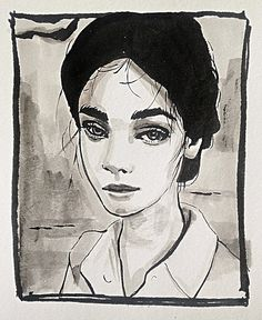 Inspired by the drop dead gorgeous Antonina Vasylchenko. #drawing #penandink