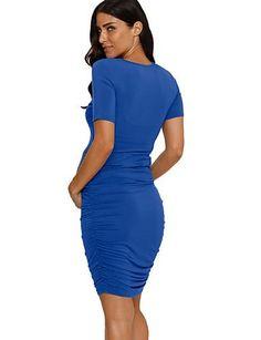 575f4d55cf97a Women's Daily Elegant Maternity Sheath Dress