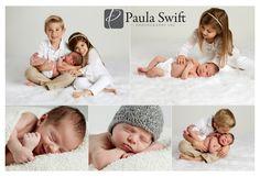 Boston Newborn Photographer - Siblings with new baby.  Paula Swift Photography, Inc. www.paulaswift.com