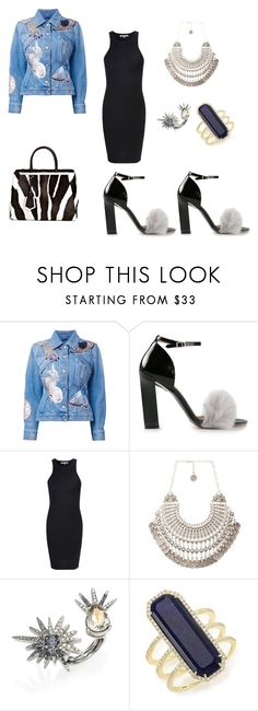 """""""Untitled #1648"""" by loveparis7 ❤ liked on Polyvore featuring Alexander McQueen, Fendi, Calvin Klein Collection, Glamorous, Natalie B, Oscar de la Renta and Meira T"""