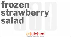 Made with cream cheese, sugar, frozen strawberries, crushed pineapple, frozen non-dairy whipped topping | CDKitchen.com