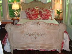Bed | A beautiful bed at the  Mainstay Bed and Breakfast located in Southampton, NY.