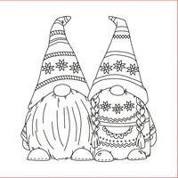 Garden Gnomes Line Art Drawings Christmas Gnome, Christmas Colors, Christmas Crafts, Scrapbooking Photo, Diy Scrapbook, Colouring Pages, Coloring Books, Embroidery Patterns, Hand Embroidery