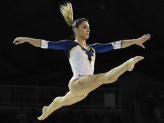 Daniele Matias Hypolito of Brazil competes on the balance