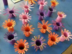 Sea anemones for our underwater VBS theme :-) Empty toilet paper ...