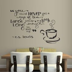 AmazonSmile - Wall Decal Decor Decals Sticker Cup Coffee Tea Cafe Restaurant Kitchen Inscription Quote Book (M323) -
