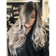 Rooty Ash Blonde Babylights Have clients that want to go icy blonde, but only with a low-maintenance Blonde Curly Hair, Icy Blonde, Blonde Color, Emo Hair, Brown Hair Balayage, Hair Color Balayage, Hair Highlights, Babylights Blonde, Silver Hair