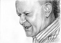 Portret mężczyzny, rysunek wykonany ołówkiem