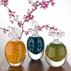 Hand-blown perfume bottles are a high-quality unique gift that can be ...  morethanelegant.com
