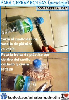 Botellas PET para cerrar bolsas