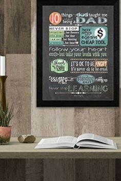 Celebrate and embrace dad by decorating your home with unique and cool dad wall art. Dad wall art decorations are super hilarious and some very nostalgic Fish Wall Art, Glass Wall Art, Metal Wall Decor, Wall Art Decor, Unique Wall Clocks, Unique Wall Art, Modern Wall Art, Office Wall Art, Home Wall Art