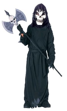 Purchase your scary skeleton costume for your kids from the Halloween Spot. This Black scary skeleton costume comes with Mask, full cut hooded robe and gloves. Classic Halloween Costumes, Halloween Outfits, Halloween Kids, Cheap Halloween, Halloween Makeup, Halloween Party, Costume Garçon, Costume Ideas, Costumes