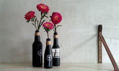 Wazony z butelek malowane tablicówką - Klinika DIY Wine Rack, Diy, Home Decor, Decoration Home, Bricolage, Room Decor, Do It Yourself, Wine Racks, Home Interior Design