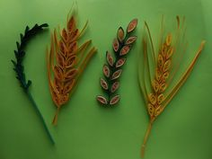 How to make Quilling Wheat Grain/Leaf Stem using Comb. How to make Quilling Wheat Grain/Leaf Stem using … Quilling Instructions, Paper Quilling Tutorial, Paper Quilling Patterns, Quilling Designs, Paper Quilling For Beginners, Quilling Videos, Quilling Techniques, Quilling Comb, Origami And Quilling