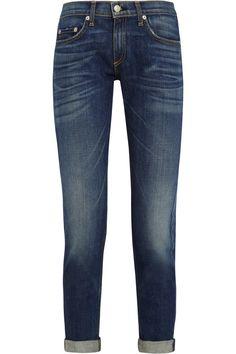 Rag & bone | The Dre cropped mid-rise slim-leg boyfriend jeans | NET-A-PORTER.COM