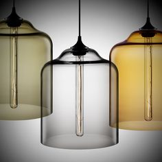"KITCHEN - Bell-Jar Modern Pendant Light at NicheModern.com 10"" $850"