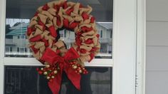 Christmas wreath, this was the 2nd wreath I ever created.