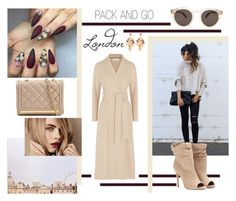 """""""Pack & Go: London"""" by elizabethlure ❤ liked on Polyvore featuring Harris Wharf London, Bishop + Young, Burberry, ALDO, Illesteva, Halo & Co., women's clothing, women, female and woman"""