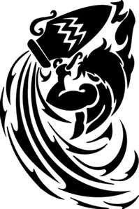 Tattoos On Best Tip Tribal Aquarius Zodiac Tattoo Ideas