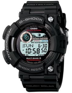 Casio G-Shock Atomic Solar Frogman with Tide & Moon Graph - Black Case & Strap