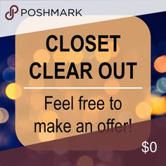 All offers considered! Help me clean out my closet - I've got to make space and minimize my collection before I move! All offers will be considered 💕 Other