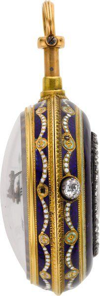 "Starožitnosti: Pocket (pre 1900), Julien Le Roy Paris Velmi jemný & amp;  Rare Gold & amp;  Smalt QuarterHour ""TOC"" Repeater, circa 1730. ..."