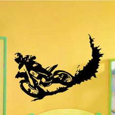 Vinyl Wall Decals Motocross Motorcycle Moto Dirty от WisdomDecals
