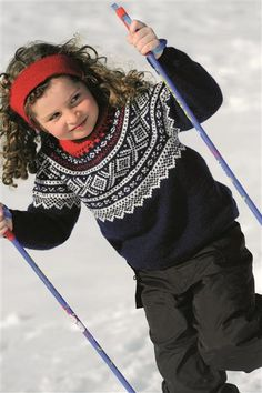 skiing for the young, as well Knitting Charts, Knitting Yarn, Knitting Patterns, Knitting For Kids, Knitting Projects, Norwegian Style, Pulls, Beading Patterns, Cute Kids